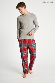 Jack Wills Red Blakebrook Flannel Lounge Pant
