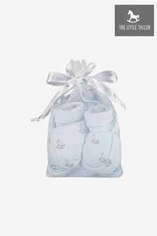 The Little Tailor Blue Baby Rocking Horse Hat/Bootie Gift