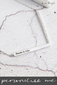 Personalised Chevron Necklace by Lisa Angel