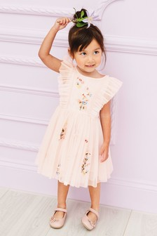 Mesh Embellished Dress (3mths-7yrs)
