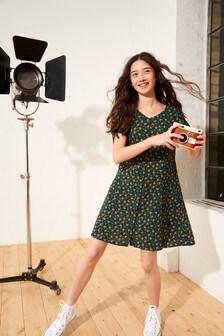 Marigold Print Button Through Dress (3-16yrs)