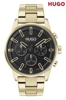 HUGO Seek Gold IP Bracelet Watch