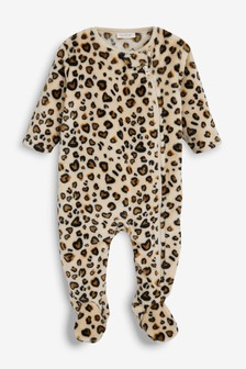 Print Fleece Sleepsuit (0mths-3yrs)