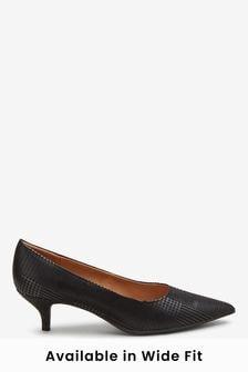Kitten Heel Shoes | Leather Kitten Heel
