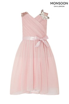 Monsoon Pink Mariposa Dress