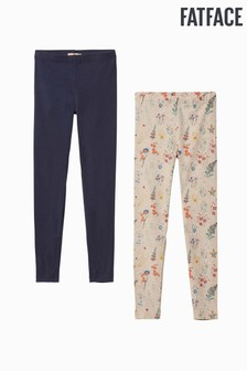 Fatface Natural Wild Flower Leggings Two Pack