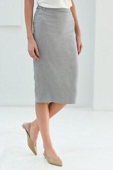 Next Without Return Black Knee Length Skirt Size 20