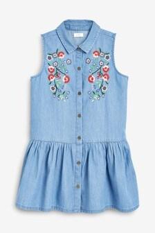 Embroidered Shirt Dress (3-16yrs)