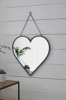 Large Hanging Heart Mirror