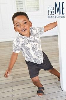 חולצה עם הדפס אננס (3 חודשים-6 שנים)