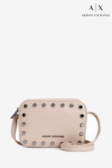 Armani Exchange Nude Studded Cross Body Bag