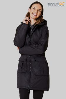 Regatta Laureen Black Waterproof Parka