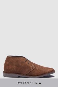 Замшевые ботинки на шнурках (широкая платформа)