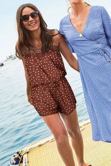 Spot Bandeau Playsuit