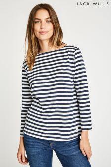 Jack Wills Navy Sillwood Breton T-Shirt