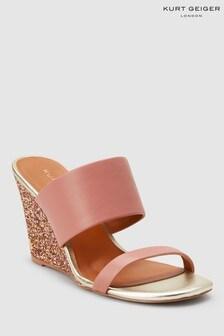 Kurt Geiger Pink Charing Wedge Sandal