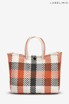 Mix/Zocalo Hand Woven Check Tote Bag