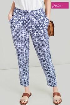 Joules Blue Sophia Printed Woven Trouser