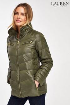 Lauren Ralph Lauren® Khaki Luxe Padded Down Jacket