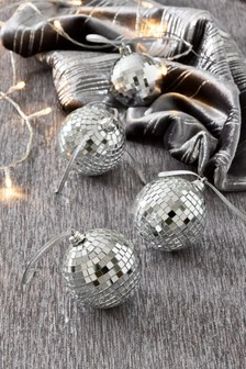 Set of 4 Discoball Baubles