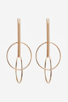 Circle Bar Drop Earrings