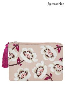 Accessorize Pink Embroidered Coin Purse