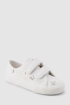 Embellished Touch Fastening Trainers (Younger)