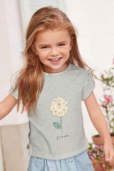 Stripe Lace Flower T-Shirt (3mths-7yrs)