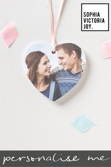 Personalised Photo Heart Hanging Decoration by Sophia Victoria Joy