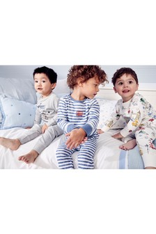 Heritage London Snuggle Fit Pyjamas Three Pack (9mths-8yrs)