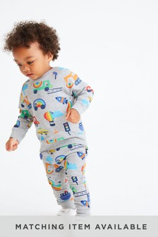 Rainbow Transport All Over Print Joggers (3mths-7yrs)
