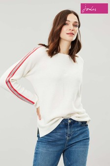 Joules Cream Giovanna Crew Neck Jumper