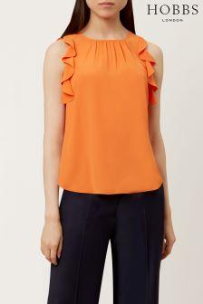 Hobbs Orange Frances Top