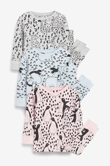3 Pack Penguin Snuggle Pyjamas (9mths-12yrs)