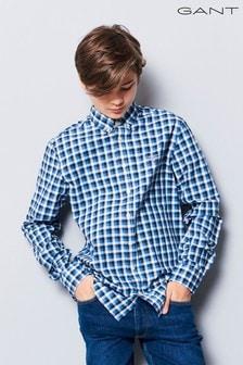 GANT Teen Blue Tricolour Gingham Shirt