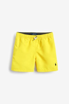 Ralph Lauren Yellow Logo Swim Shorts