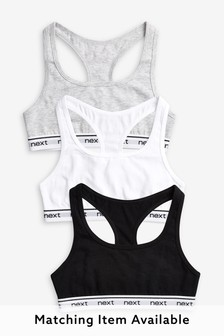 Racer Back Crop Tops Three Pack (Older)