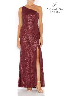Adrianna Papell Red Sequin Mermaid Dress
