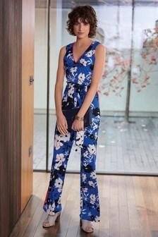 Floral Belted Jumpsuit