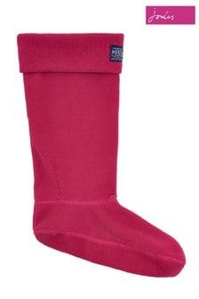 Joules Pink Fleece Welly Sock