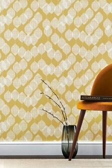 Paste The Paper Ochre Leaf Wallpaper