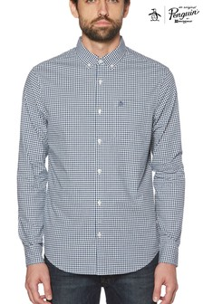 Original Penguin® Estate Blue Gingham Shirt