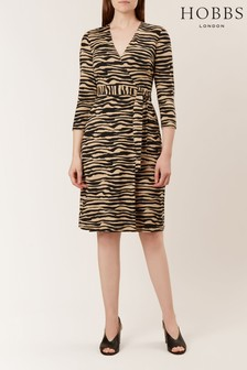 Hobbs Camel Delilah Wrap Dress