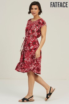 FatFace Scarlet Claudi Tiered Breeze Patchwork Dress
