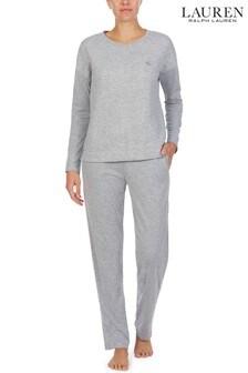 Lauren Ralph Lauren® Grey Quilted Cable Lounge Pyjama Set