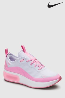 Nike White/Pink Air Max Dia Trainers