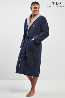 Polo Ralph Lauren Navy Back Logo Dressing Gown