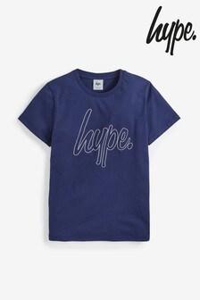 Hype. T-Shirt mit umrissenem Schriftzug