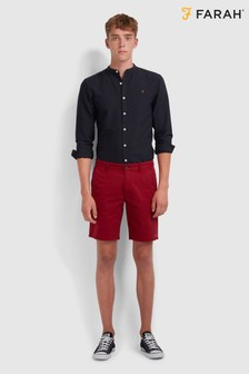 Farah Red Hawk Short Gmt Dye Shorts