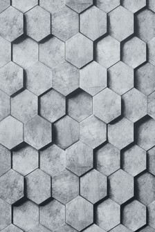 Paste The Wall Hexagonal 3D Wallpaper Sample